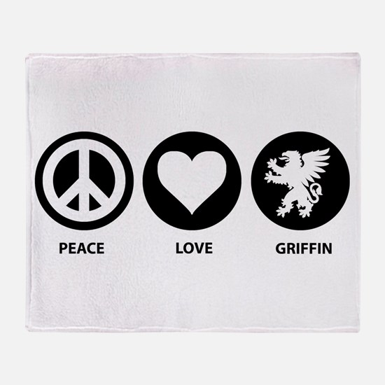 Peace Love Griffin Throw Blanket
