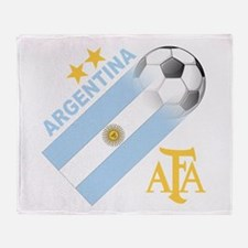 Argentina world cup soccer Throw Blanket