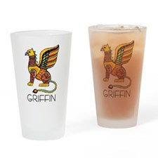 Colorful Griffin Pint Glass