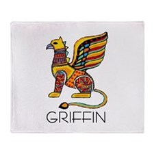 Colorful Griffin Throw Blanket