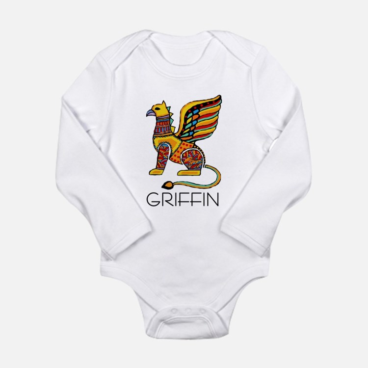 Colorful Griffin Long Sleeve Infant Bodysuit