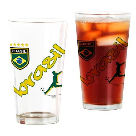 Brazilian World cup soccer Pint Glass