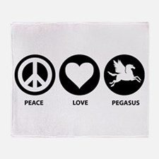Peace Love Pegasus Throw Blanket