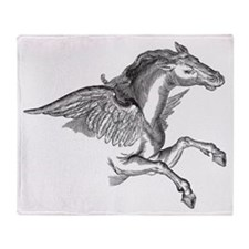Pegasus Illustration Throw Blanket