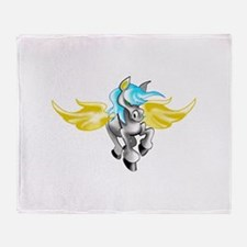 3D Pegasus Throw Blanket
