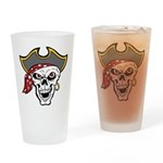 Pirate Skull Pint Glass