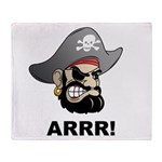 Arr Pirate Throw Blanket