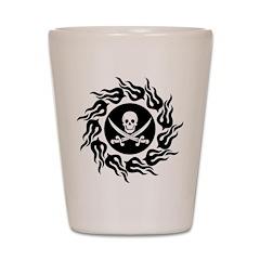 Tribal Pirate Shot Glass