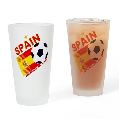 Spain World cup champions Pint Glass