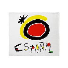 Spainish Soccer Throw Blanket