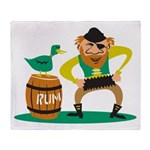Funny Pirate Throw Blanket