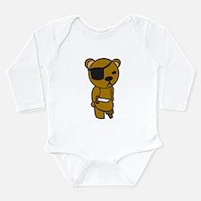 Pirate Teddy Long Sleeve Infant Bodysuit