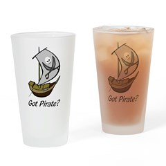 Pirate Sailboat Pint Glass