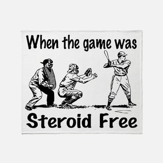 Steroid free baseball Throw Blanket