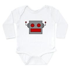 Retro Robot Long Sleeve Infant Bodysuit