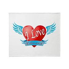 I love Edward Throw Blanket