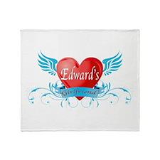Edward's girlfriend Throw Blanket