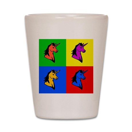 Pop Art Unicorn Shot Glass