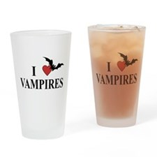 I Love Vampires Pint Glass