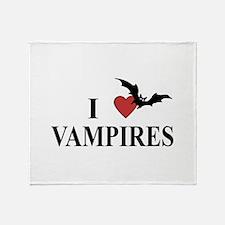 I Love Vampires Throw Blanket