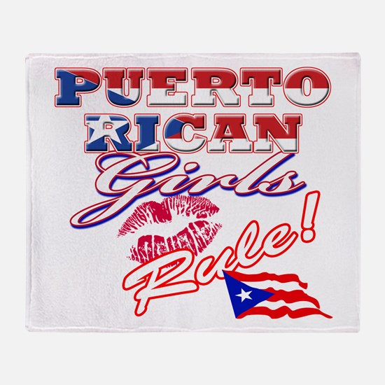 Puerto rican girl Throw Blanket