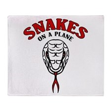 Snakes On A Plane Throw Blanket
