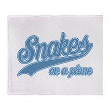 Retro Snakes On A Plane Throw Blanket
