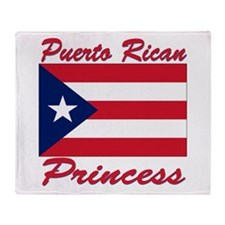 Puerto rican pride Throw Blanket