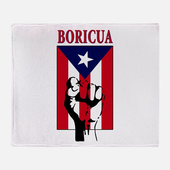Puerto rican pride Throw Blanket