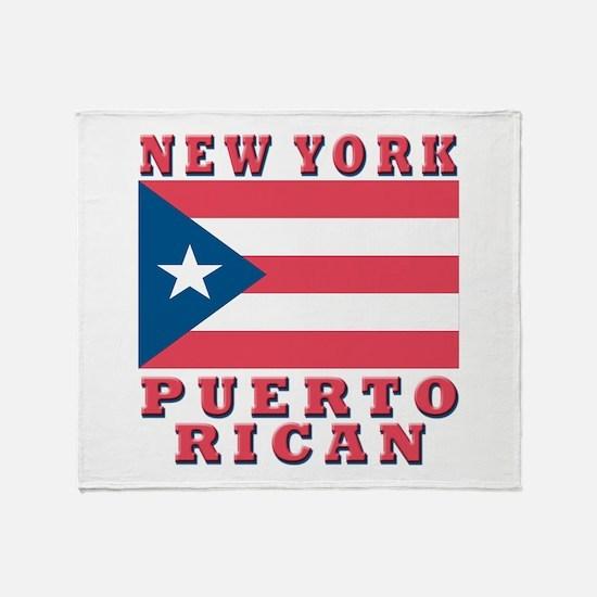 New York Puerto Rican Throw Blanket