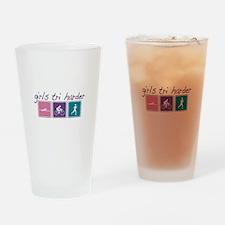 Girls Tri Harder Pint Glass