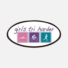Girls Tri Harder Patches