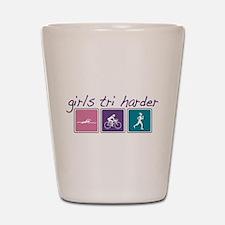 Girls Tri Harder Shot Glass