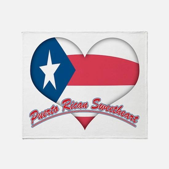 Puerto Rican Sweetheart Throw Blanket