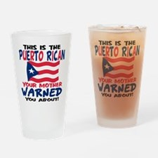 Puerto rican warned you about Pint Glass