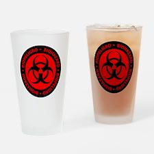 Red & Black Bilingual Bioh Pint Glass