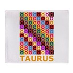 Pop Art Taurus Throw Blanket