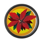 Poinsettia Large Wall Clock