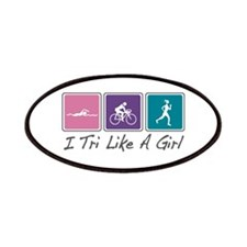 Tri Like A Girl Triathlete Patches