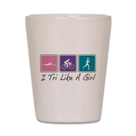 Tri Like A Girl Triathlete Shot Glass