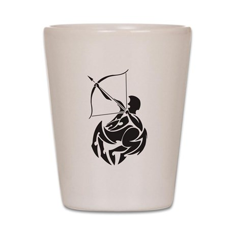 Tribal Sagittarius Shot Glass