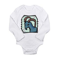Capricorn Long Sleeve Infant Bodysuit