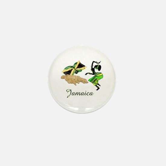 Cute Jamaica Mini Button