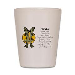 Astrology Pisces Shot Glass