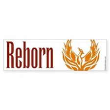 Reborn - phoenix on white Bumper Bumper Sticker