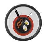 Breakfast Large Wall Clock