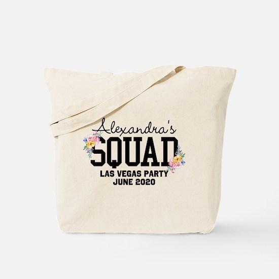 CUSTOM Squad Member Flower Tote Bag