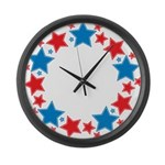 Stars Large Wall Clock