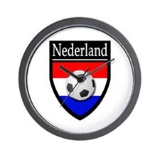 Nederland Patch Wall Clock