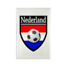 Nederland Patch Rectangle Magnet
